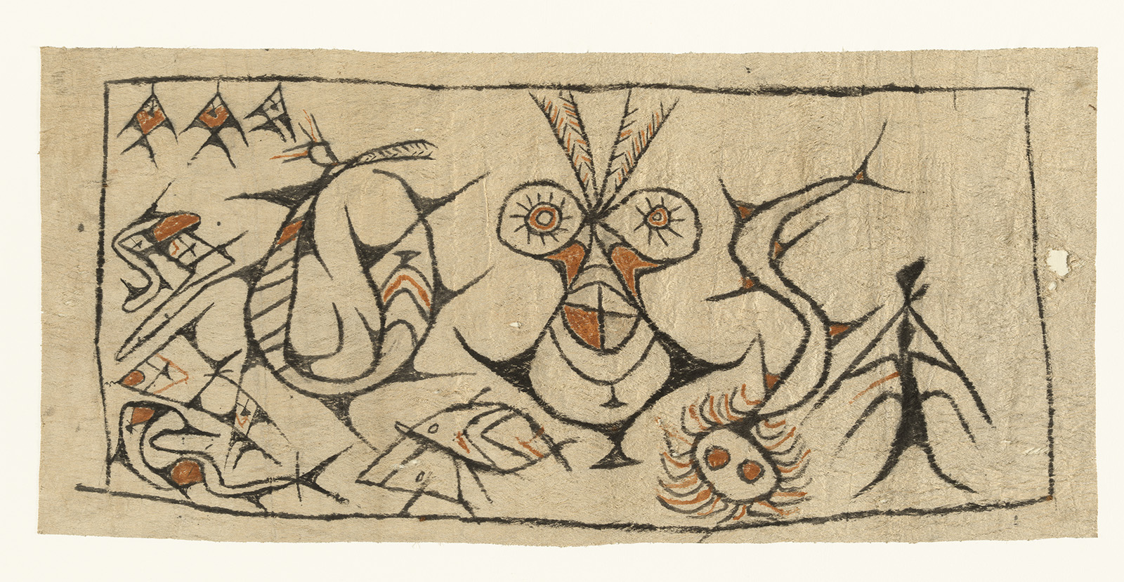 Painted Bark Cloth    Maro    Lake Sentani  © National Gallery of Australia