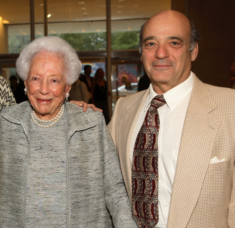 Mrs. Margaret McDermott and Steven G. Alpert at the Dallas Museum of Art.