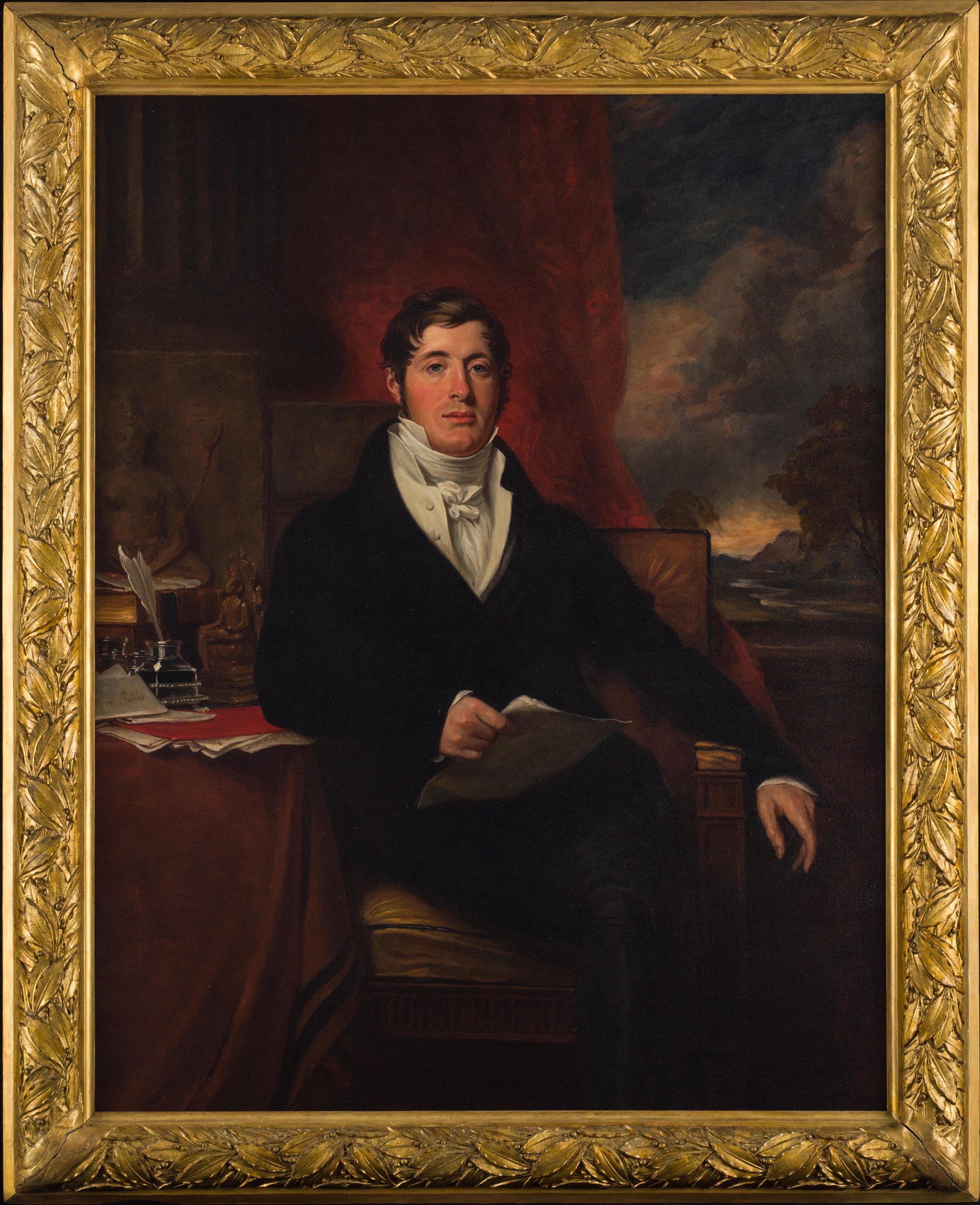 Portrait of Sir Thomas Stamford Bingley Raffles. © National Museum of Singapore