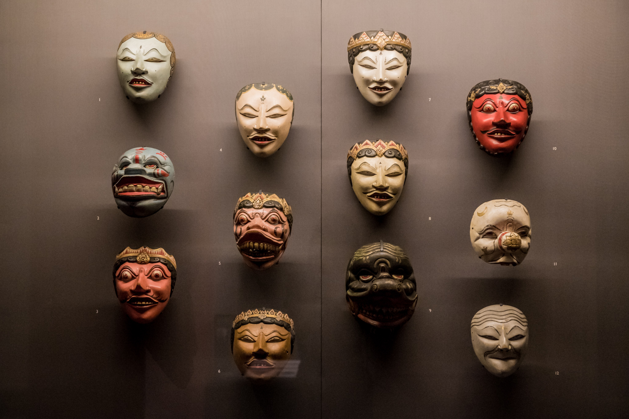 Raffles' mask collection. Image courtesy of Asian Civilisations Museum.jpg