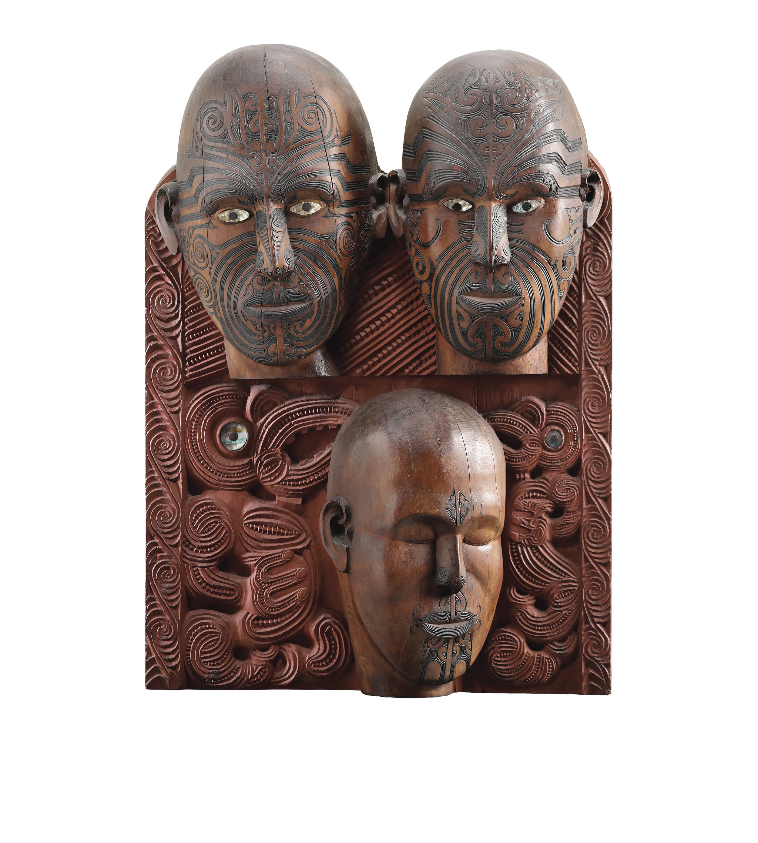 Tene Waitere, Tā Moko panel, 1896-99. (PHOTO: The Museum of New Zealand Te Papa Tongarewa)