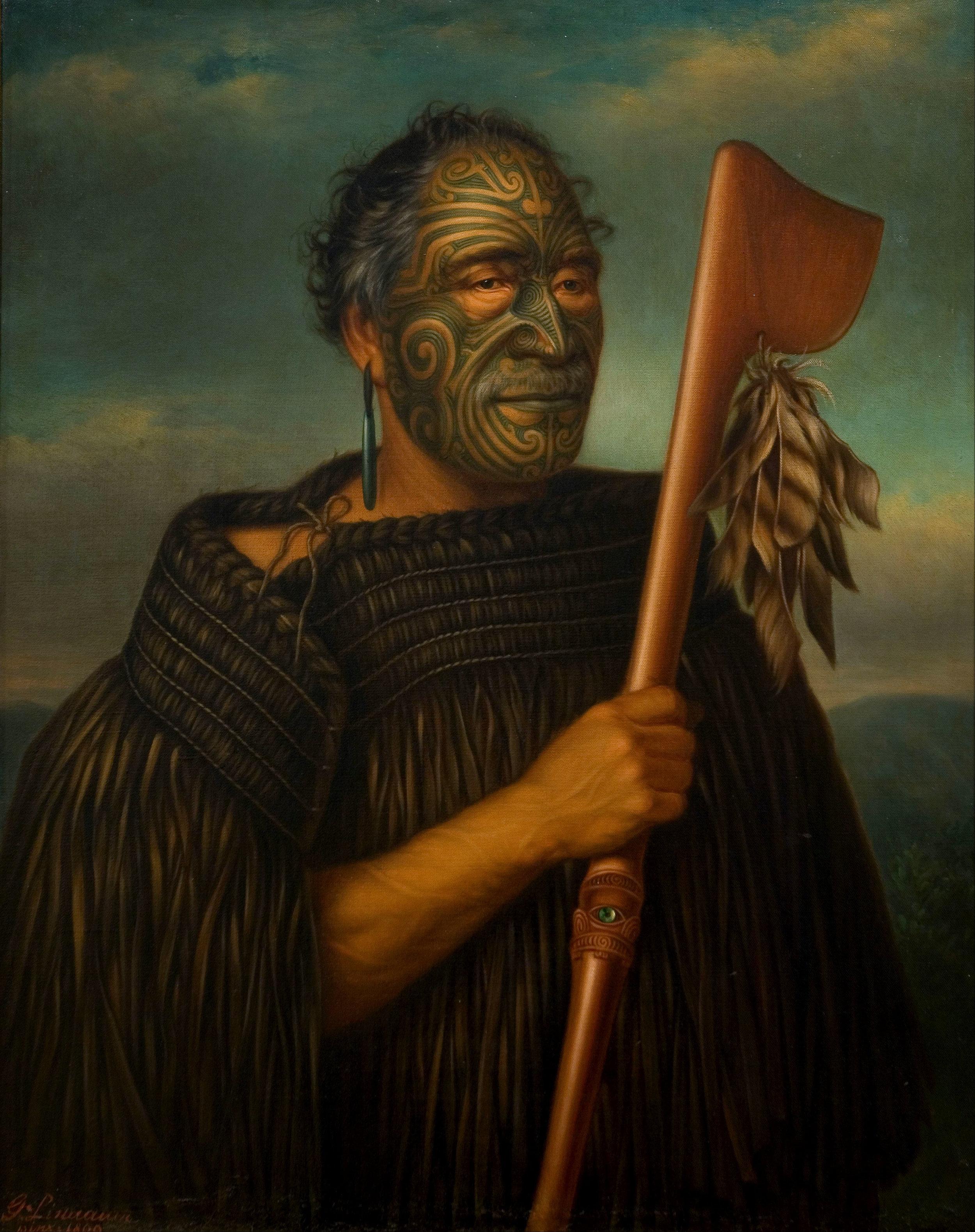 Gottfried Lindauer, 'Tamati Waka Nene,' 1890. Oil on canvas. Auckland Art Gallery Toi o Tāmaki