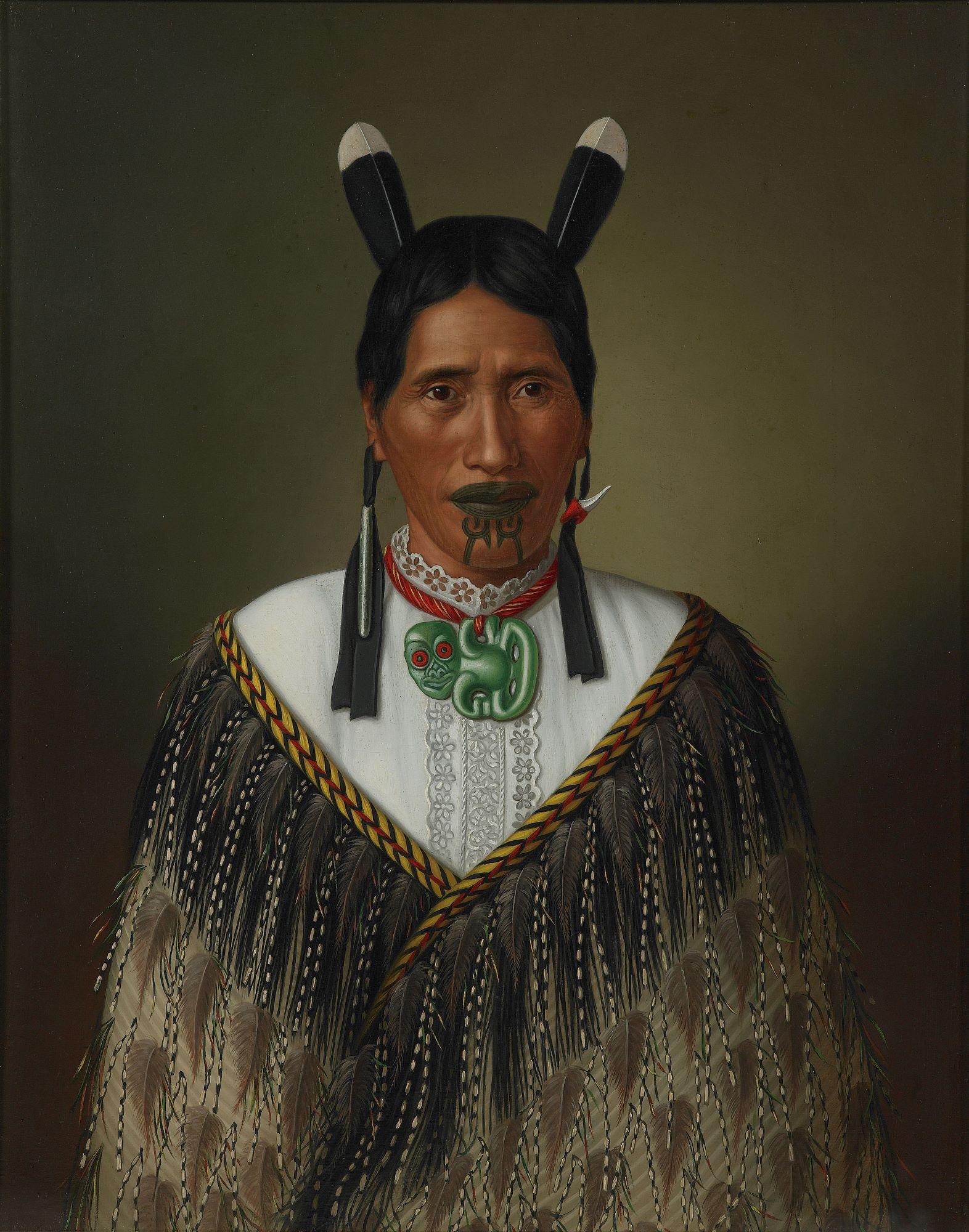 Gottfried Lindauer, 'Portrait of Mrs. Paramena,' 1885. Oil on canvas. Museum of New Zealand Te Papa Tongarewa