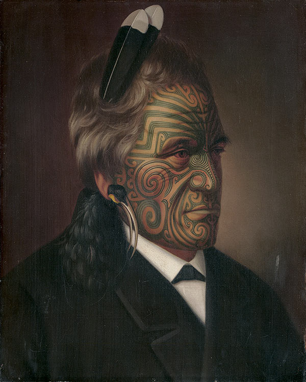 Gottfried Lindauer, 'Tomika Te Mutu, chief of the Ngaiterangi tribe, Bay of Plenty' 1880. Rex Nan Kivell Collection, National Library of Australia, Canberra.