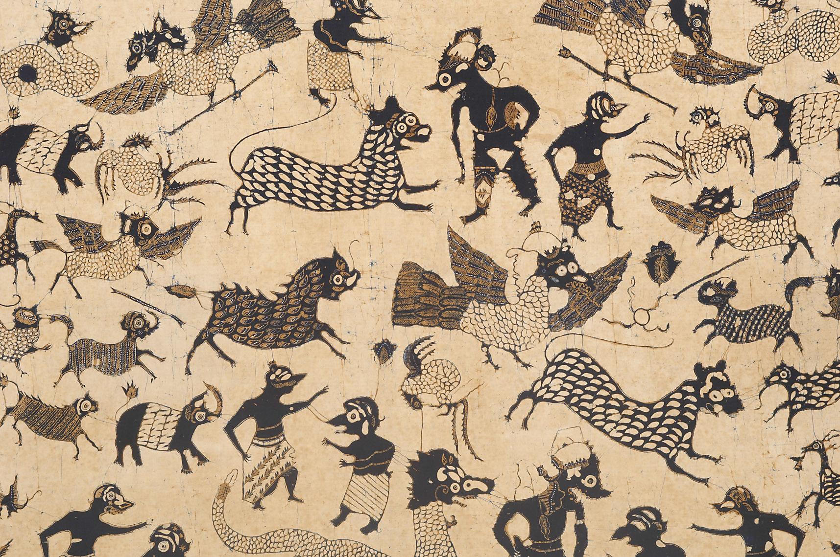 Detail of Batik Cloth |  Kain Panjang  | Cirebon, Java | Mid 19th Century © KHM-Museumsverband