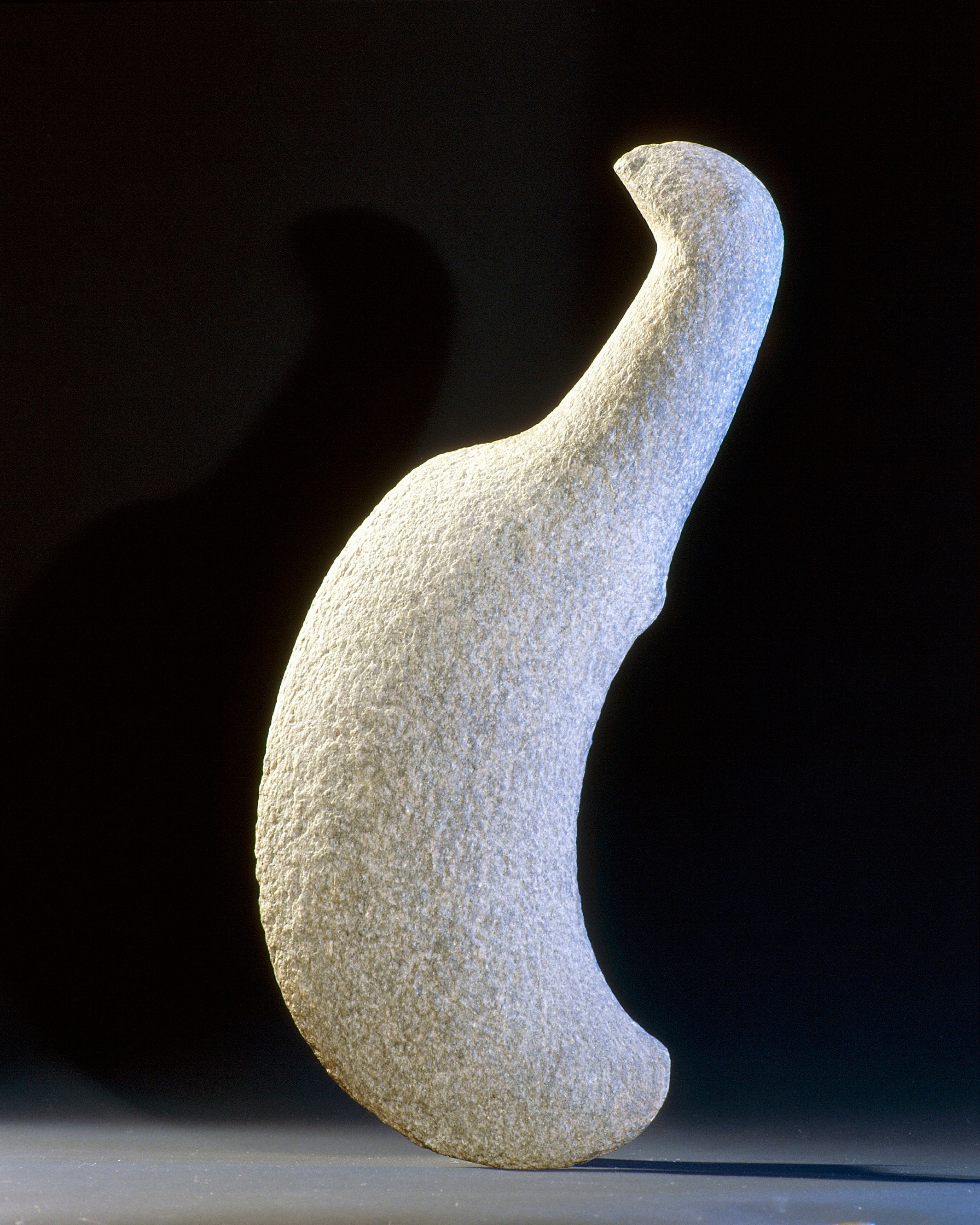 A bird-shaped okewa or stone club from the Chatham Islands which lie 500 miles to the east of New Zealand's South Island. The Moriori people of the Chathams retained attributes of archaic Maori culture long after it had disappeared from the mainland.   Inv. #: 55404996 © Werner Forman Archive/ National Museum of New Zealand, Wellington
