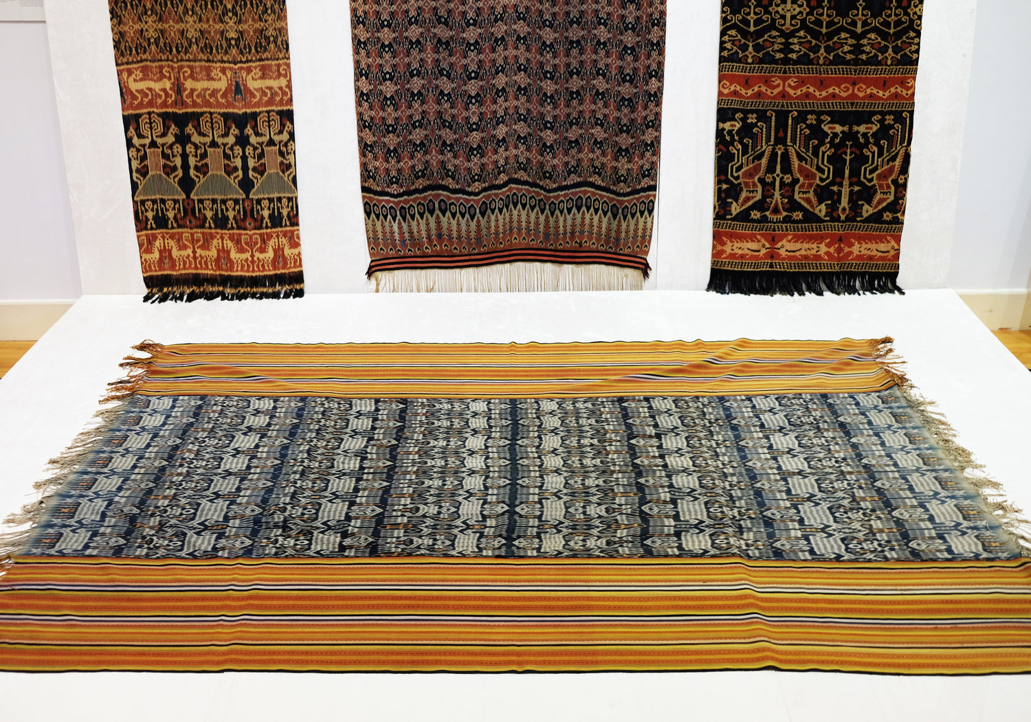 Peter ten Hoopen and The Pusaka Collection's Fibres of Life: Ikat Textiles of the Indonesian Archipelago, exhibited at University Museum and Art Gallery © Hong Kong University Art Gallery