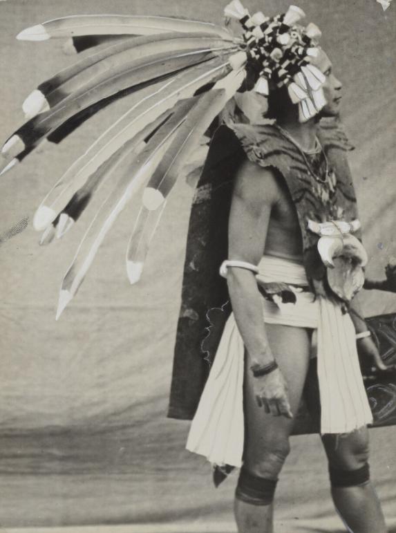 Dayak Warrior in Costume | 1932 © Tillema Collection | Nationaal Museum van Wereldculturen | The Netherlands