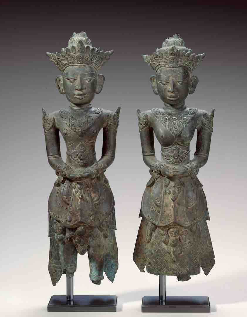 Bronze Male and Female Ancestor Figures | Bali © Asian Art Museum of San Francisco