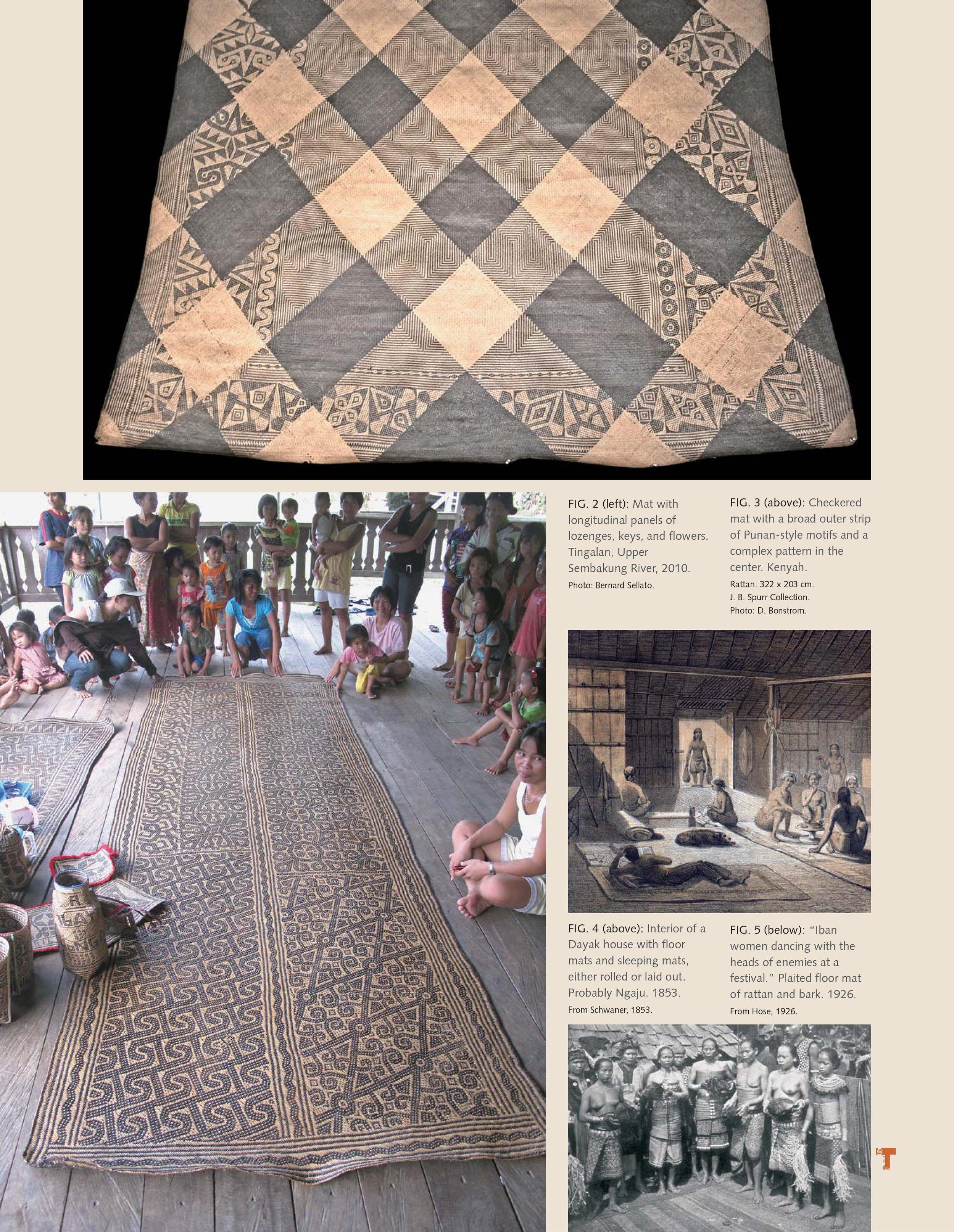 Decorated Mats of the Peoples of the Borneo Hinterland Jonathan Fogel Bernard Sellato Tribal Art Magazine