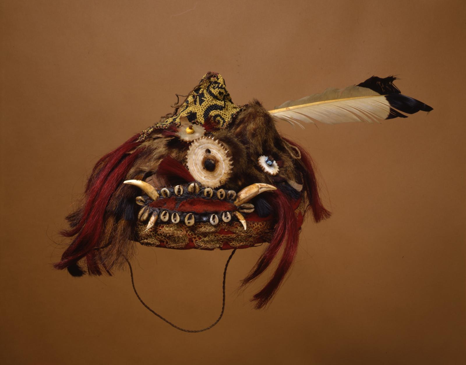 Dayak Warrior's Headdress   Gift of Dr. William H. Furness 3rd, 1898   Object #: P1139B   Penn Museum