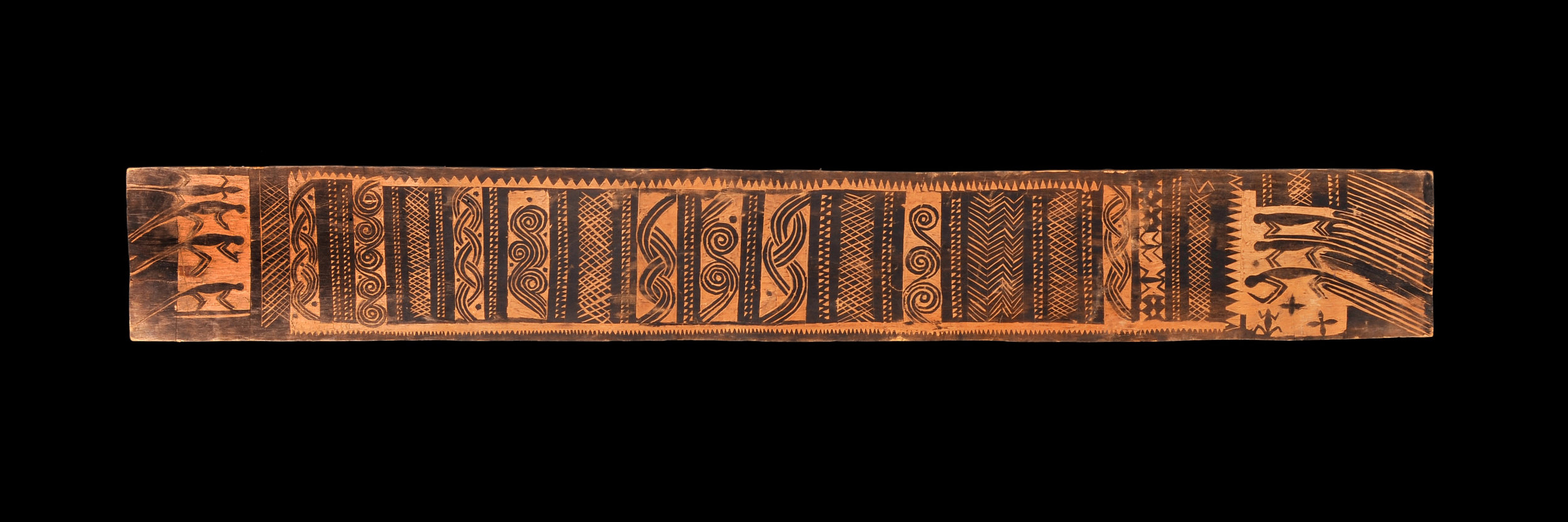 Incised and Painted Decorative Wooden Board | Inv #: IIC2653 © Museum der Kulturen Basel | Switzerland