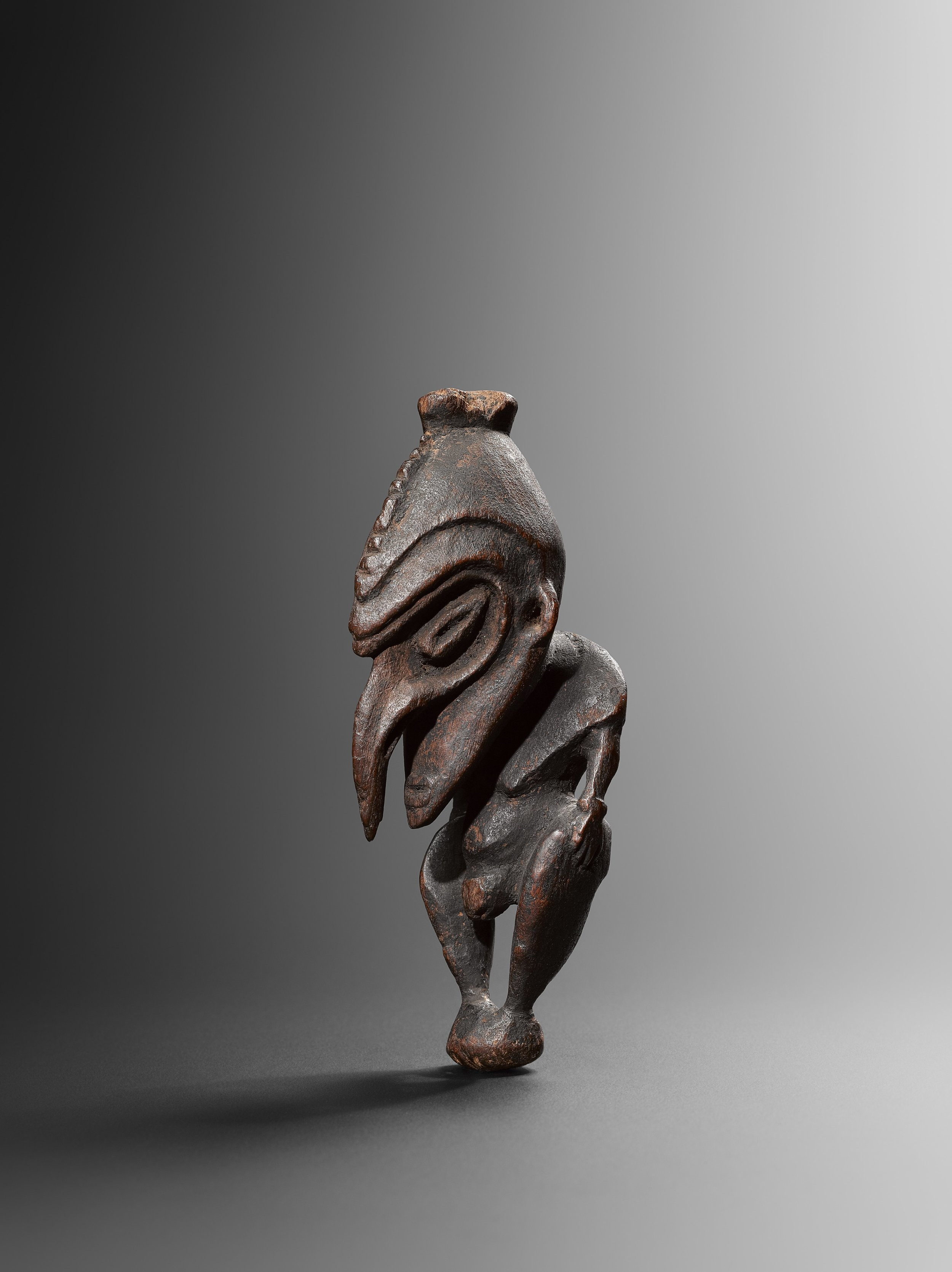 Charm figure. Ramu. Wood. 16 cm. Julius Carlebach, New York. Dr David V. Becker, New York, acquired from the above on 22 March 1958. Sotheby's New York, 16 May 2014. Bruce Frank, New York. © Hugues Dubois, Brussels/Paris