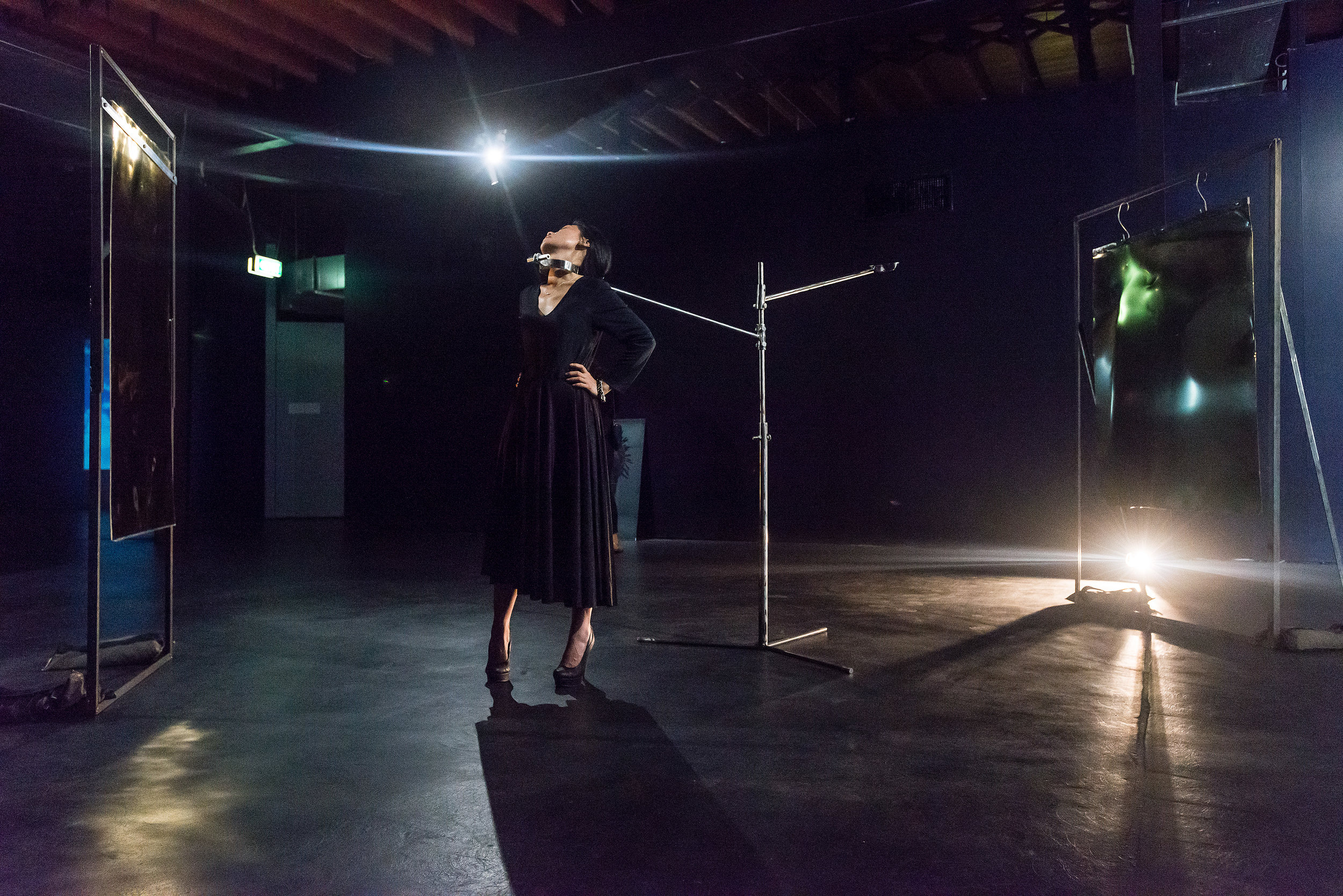 Octora    Global apartheid voyeurism: The pose  2017 durational performance and installation  Courtesy of the artist