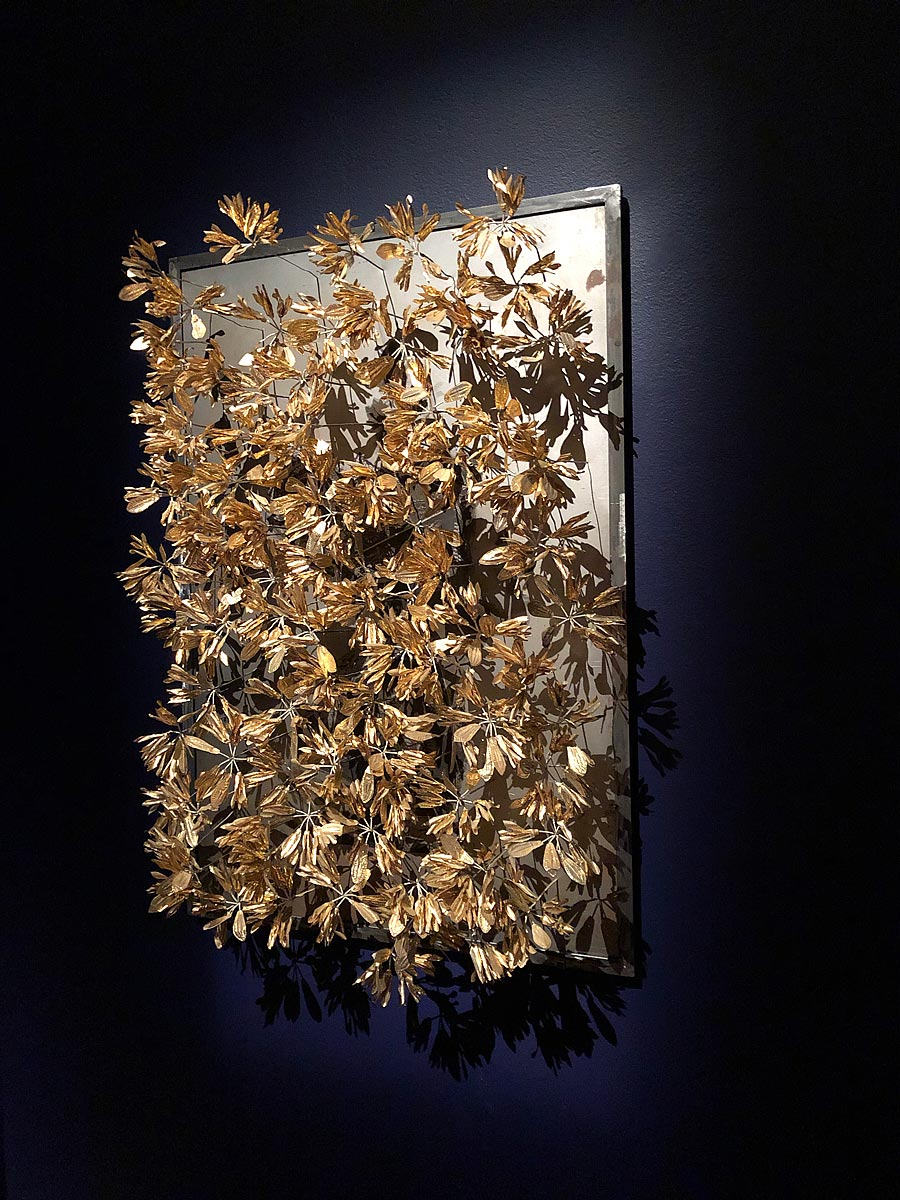 Octora    Samsara  2017 print on steel with Balinese brass hair accessories  Collection of Amit Holckner, Melbourne