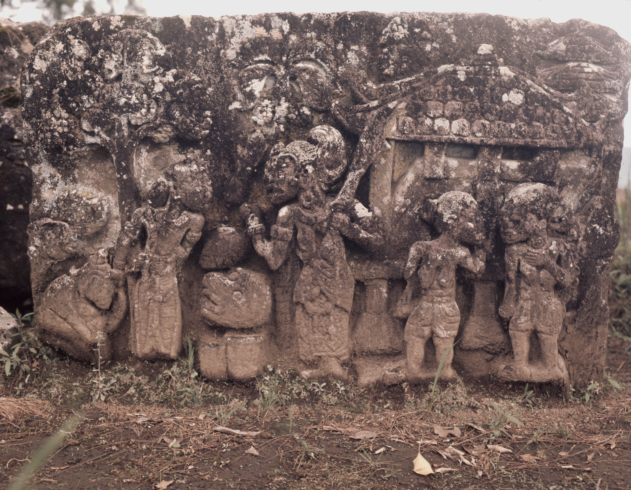 Relief from Candi Sukuh, a sacred place for the worship of ancestors, nature spirits and fertility cults. Country of Origin: Indonesia. Culture: Hindu. Date/Period: c 1437 AD, Majapahit Kingdom. Place of Origin: Central Java, Western slopes of Mount Lawu. Credit Line: Werner Forman Archive.