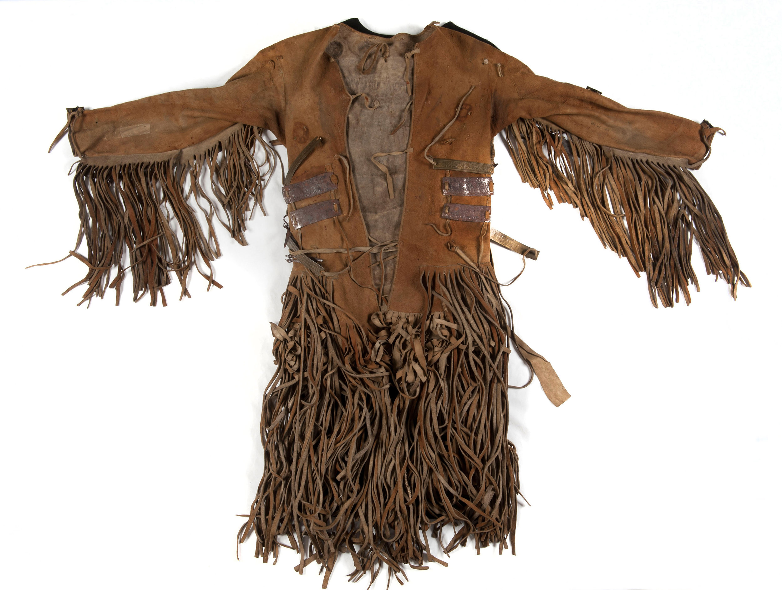 Jacket of a shaman; leather, iron, tendon wire; Northeast Siberia, 1800-1803. Collection National Museum of World Cultures Foundation