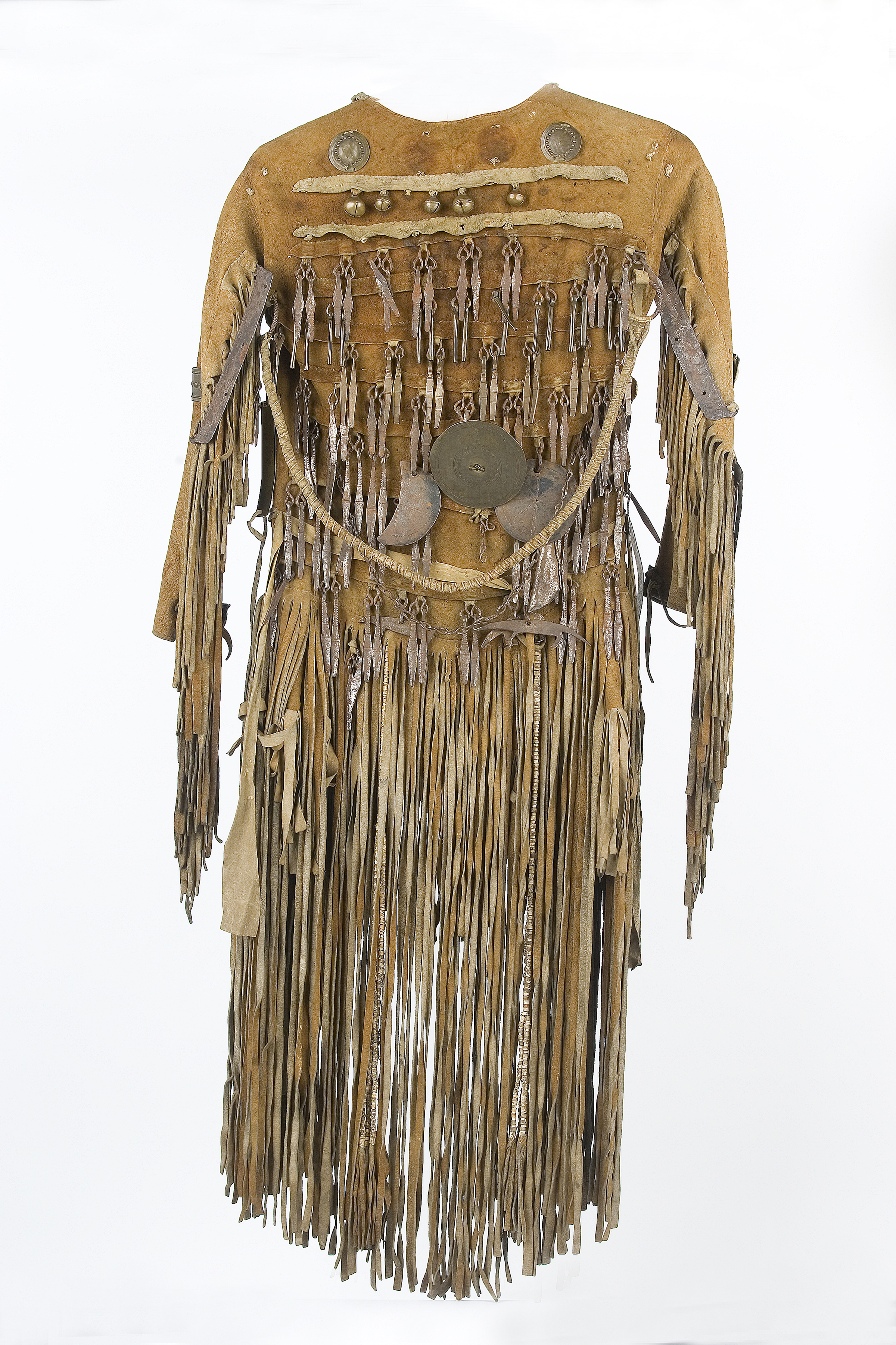 Jacket of a shaman (back); leather, iron, tendon wire; Northeast Siberia, 1800-1803. Collection National Museum of World Cultures Foundation