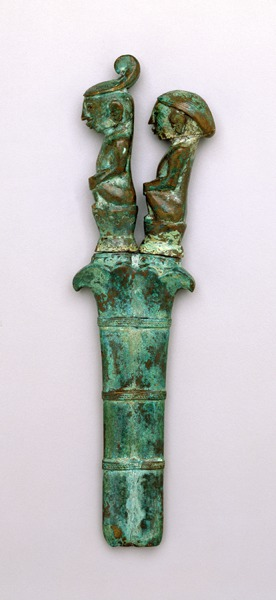 Knife with Crouching Male and Female Figures with Sheath   | Batak © The Dallas Museum of Art | Texas, USA
