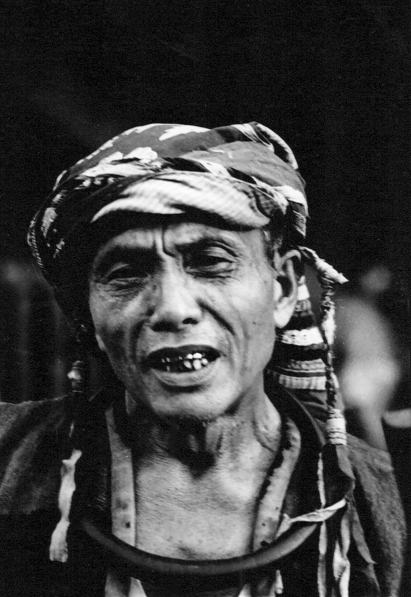 A villager of Orahili, South Nias, with a golden smile. (Photograph Maggie de Moor, 1985)