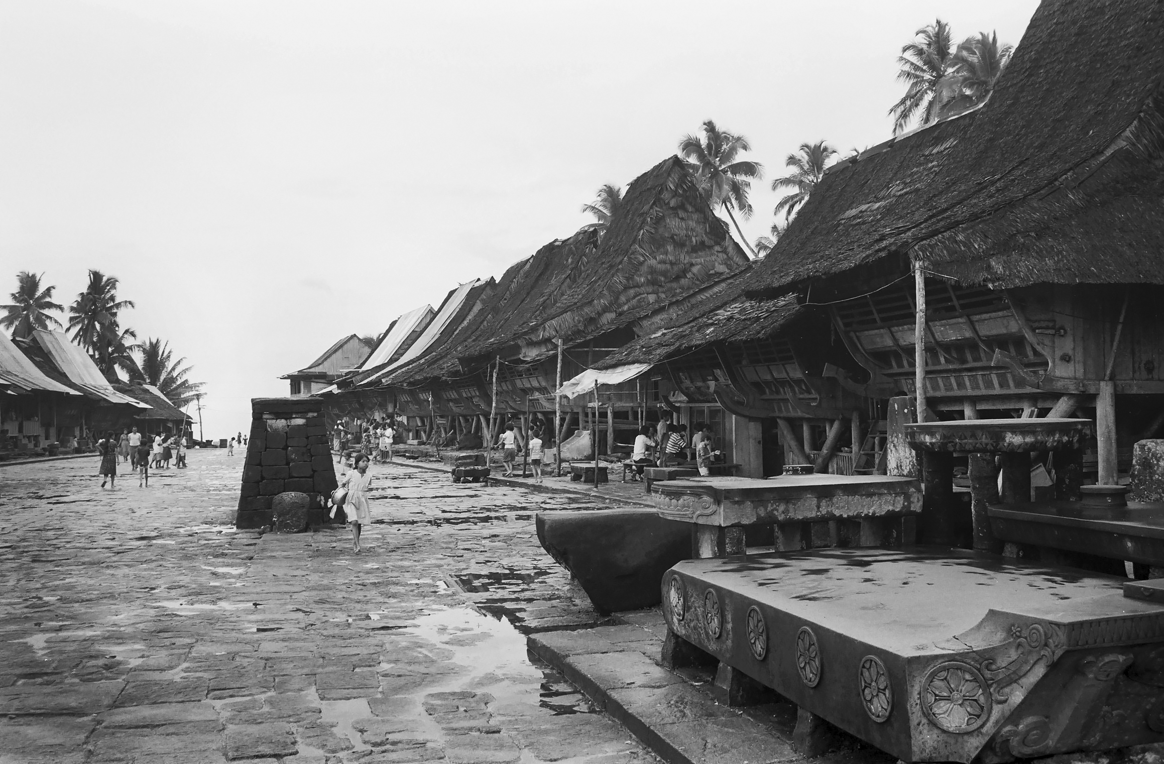 Village Bawömataluo, South Nias. (Photograph Maggie de Moor, 1985)