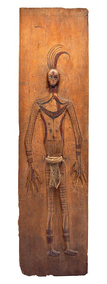 Memorial Wall Panel with Wooden Figure of a Slain Headhunting Victim    Simoinang Tulangan Sirimanua  © The Dallas Museum of Art   Texas, USA