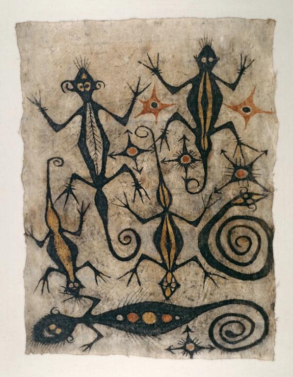 Painted Bark Cloth    Maro    Lake Sentani © Nationaal Museum van Wereldculturen   The Netherlands