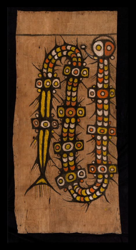 Painted Bark Cloth |  Maro  | Lake Sentani © Nationaal Museum van Wereldculturen | The Netherlands