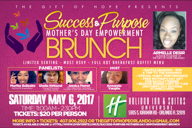 Success & Purpose Mothers Day Brunch (May 6, 2017)   Orlando, FL