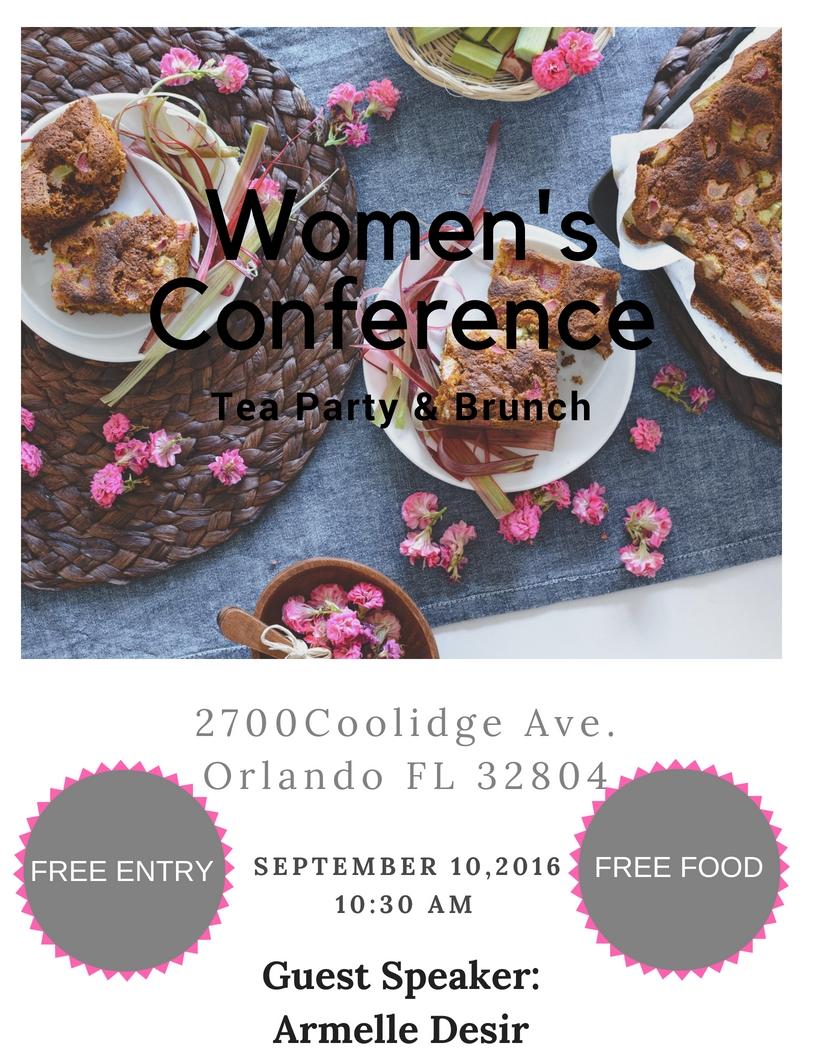 Women's Conference Tea Party & Brunch (September 10, 2016)   Orlando, FL.