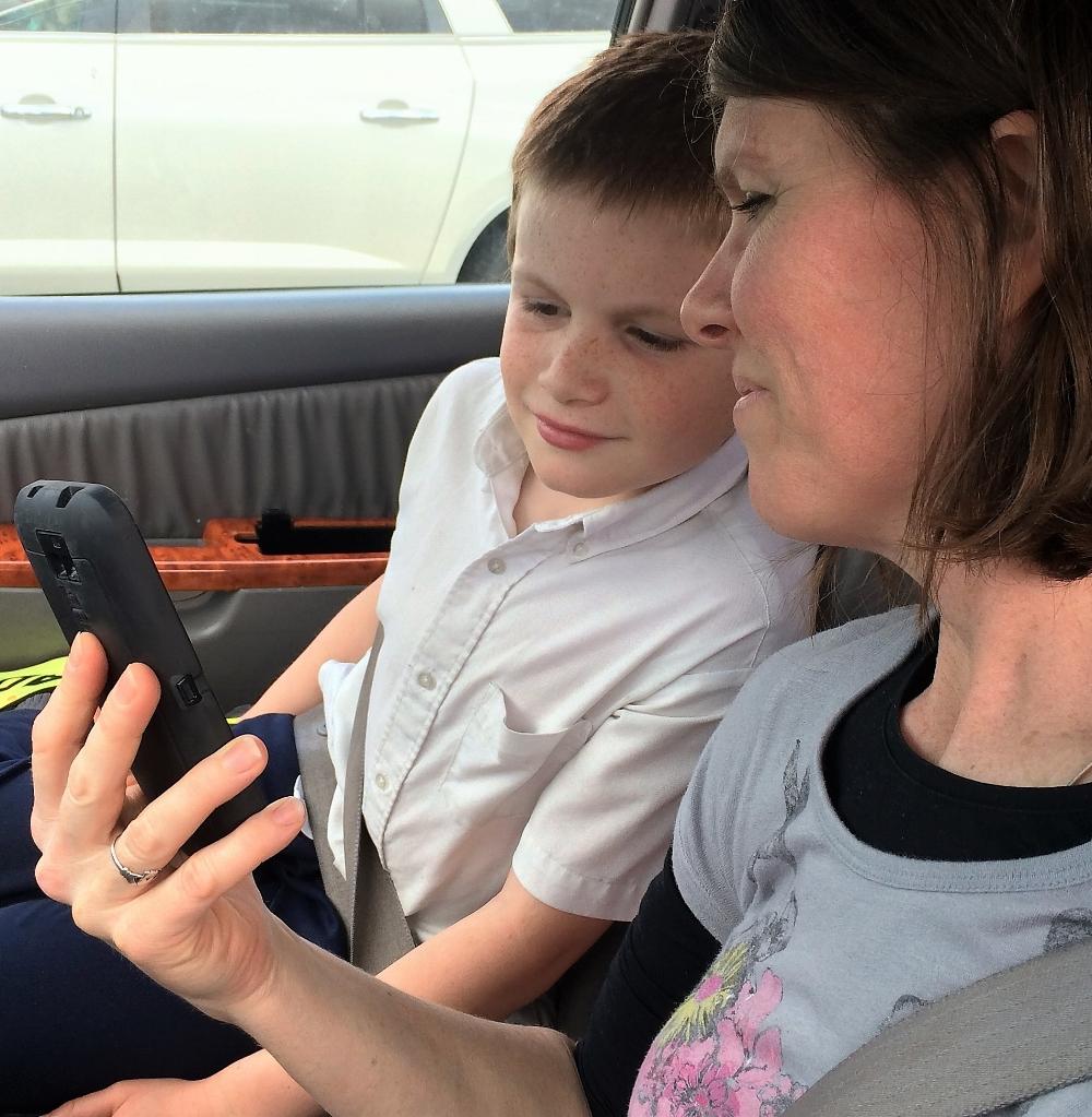 rita and Joey with phone.JPG