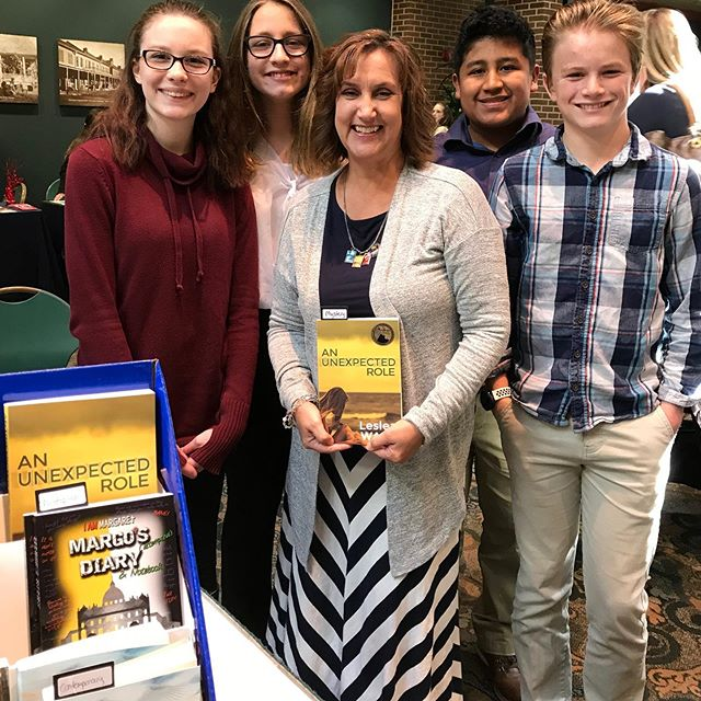 Some of the Beyond the Trend Teens group enjoyed meeting #CatholicTeenBooks author Leslea Wahl @ministrythrumystery today at the Respect Life Convention in STL! Great faith-affirming fun-to-read books that teens actually enjoy and can relate to. #VirtueWorks