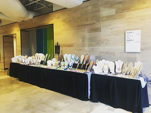Jewelry Junkie's display is up and ready for business!  #districtatchamblee #jewelryvendor #jewelryjunkie #vendors