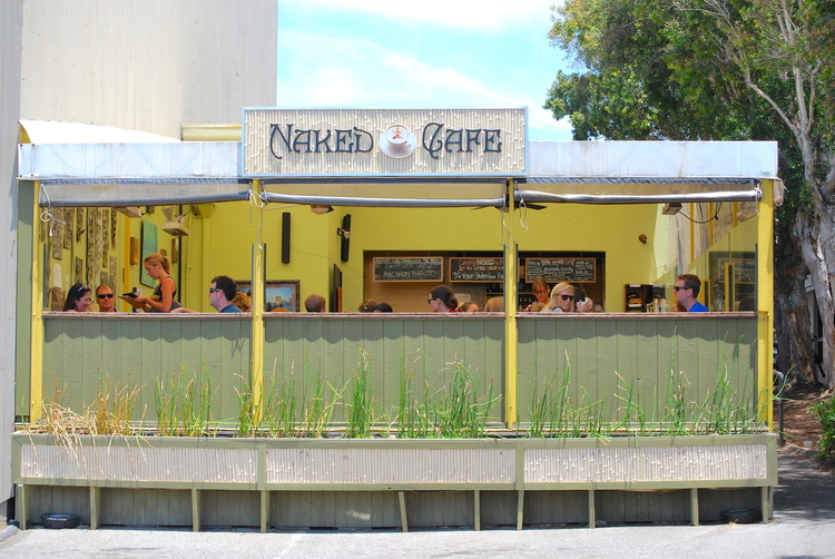 Naked Cafe - Health-oriented brunch and lunch spot close to the oceanRecs: Dual Delight, Buff Breakfast Burrito and Pesto Scramble
