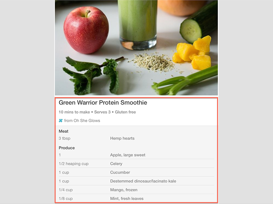 Pinterest - Rich Pin Example - Recipe Example