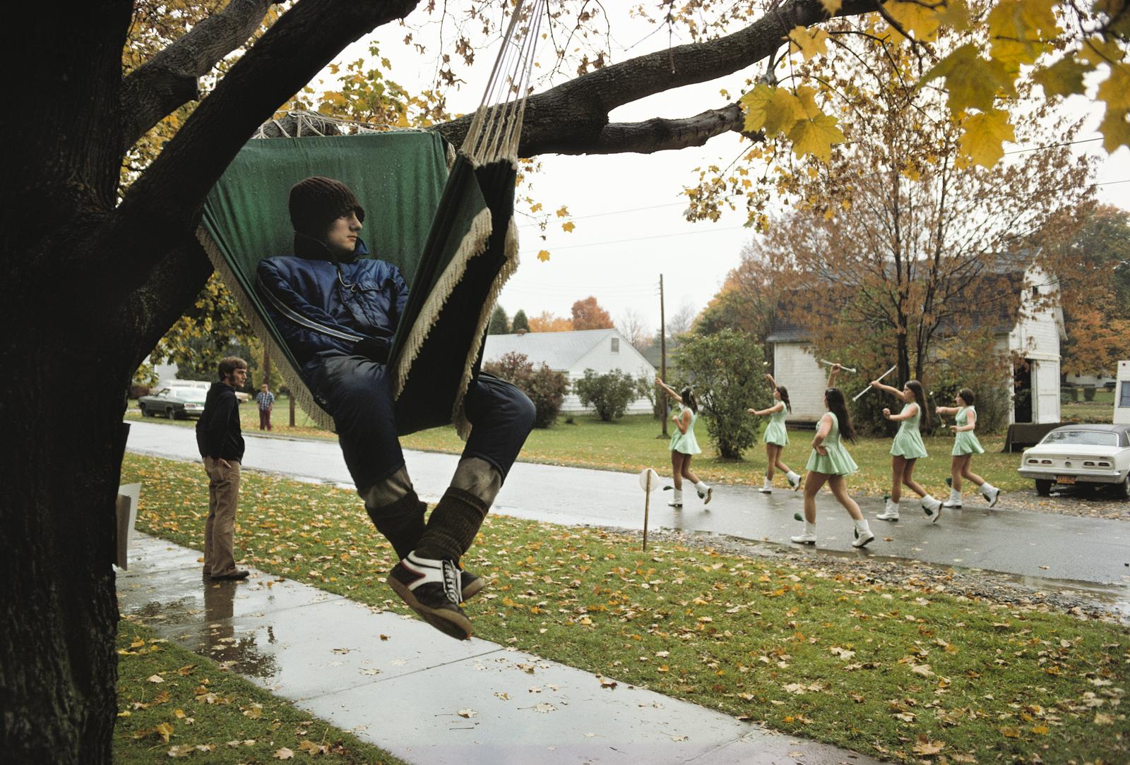 Tree Sitting Contest, Cohocton, New York, 1975