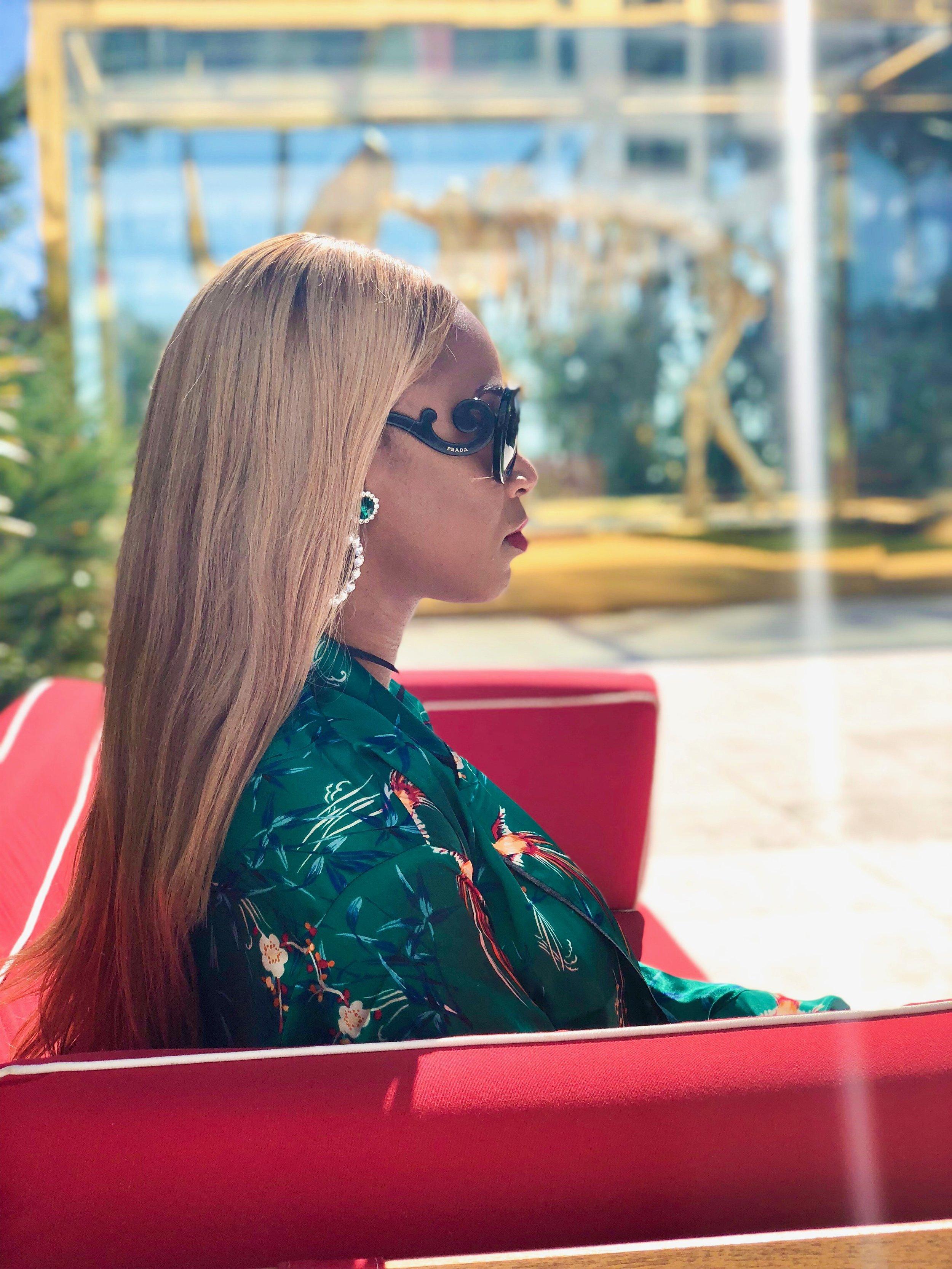 Location: Faena  Kimono: Forever 21  Sunglasses: Prada  Earrings: Aldo Accessories