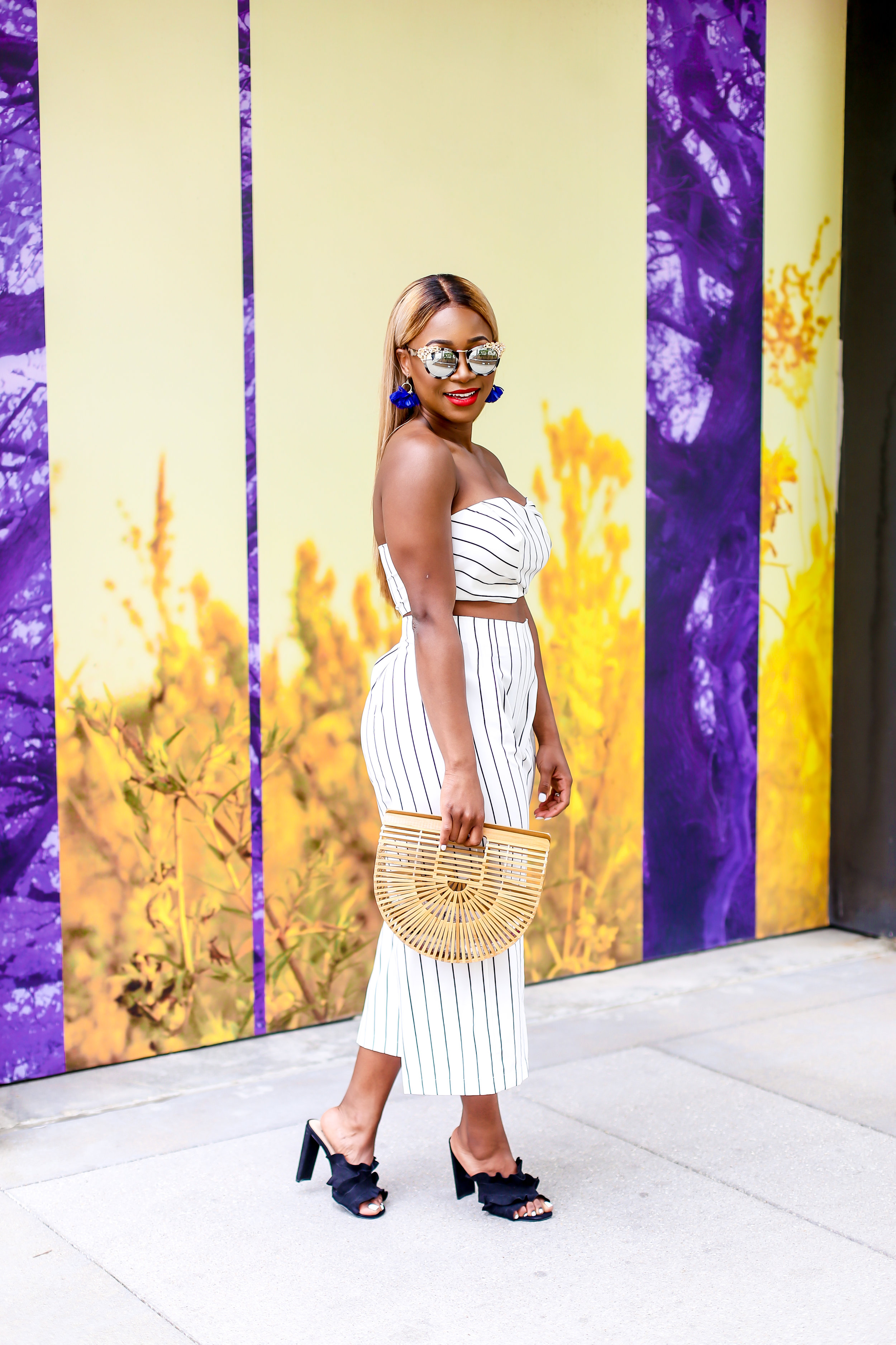 Sunglasses and Handbags can always bring your outfit to life.