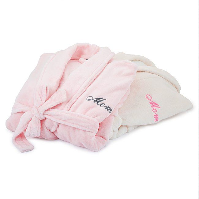 Gift Idea #9:  Make Mom feel so special with personalized gifts. One item we think is a personalized robe whether soft & fluffy or soft & silky. If you haven't figured it out yet, it takes women a very long time to get ready! Whats a better outfit to idle in as a woman does her make up and hair? That's right a Robe. Don't have to pull it over your head, so that means no mess ups of the hair or makeup. If a robe doesn't make the cut there are  plenty of other personalized gifts that will definitely make Mom smile at  Things Remembered .