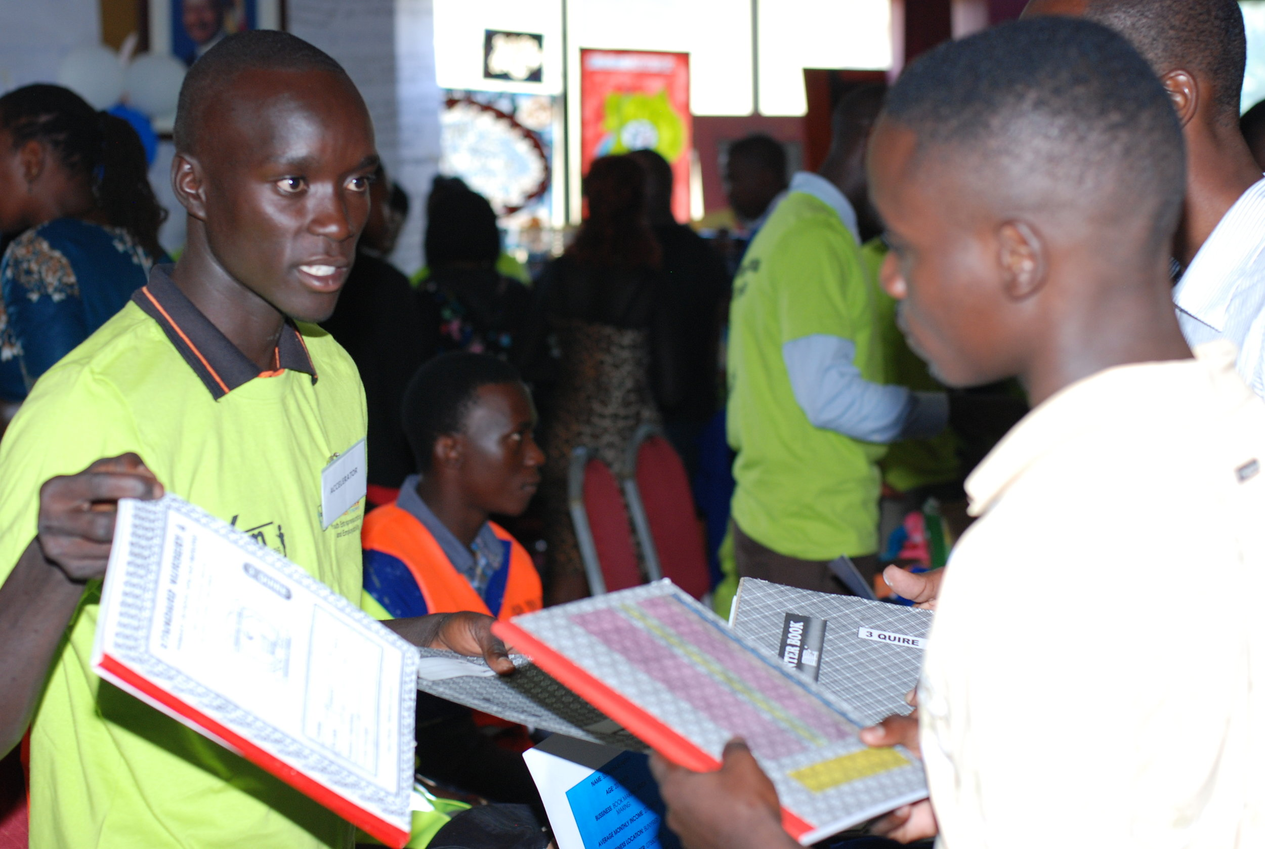 - Out of school youth making a living from manufacture of books. Read more