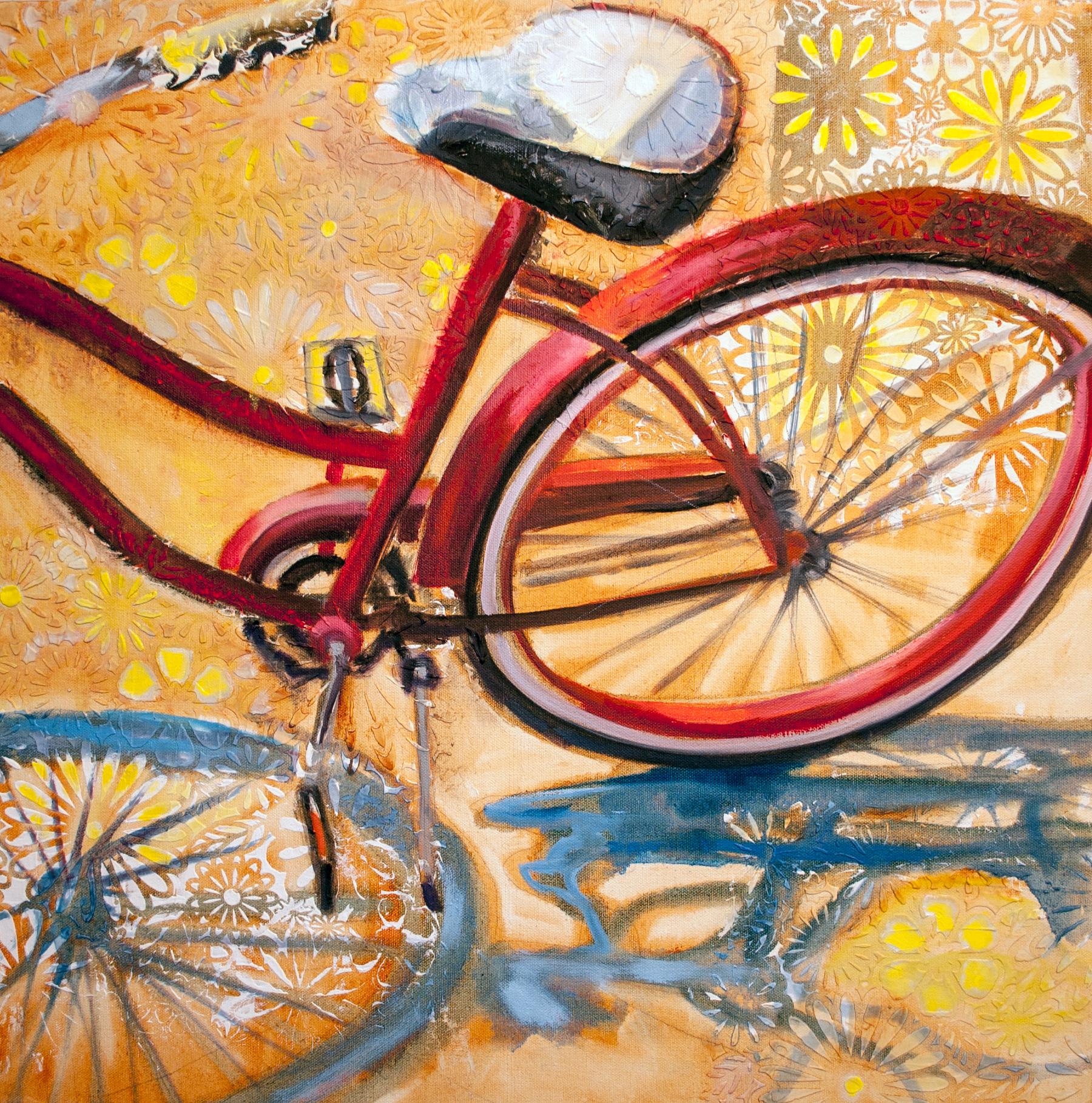 "Sunshine in My Pocket, 24"" x 24"" acrylic on canvas"