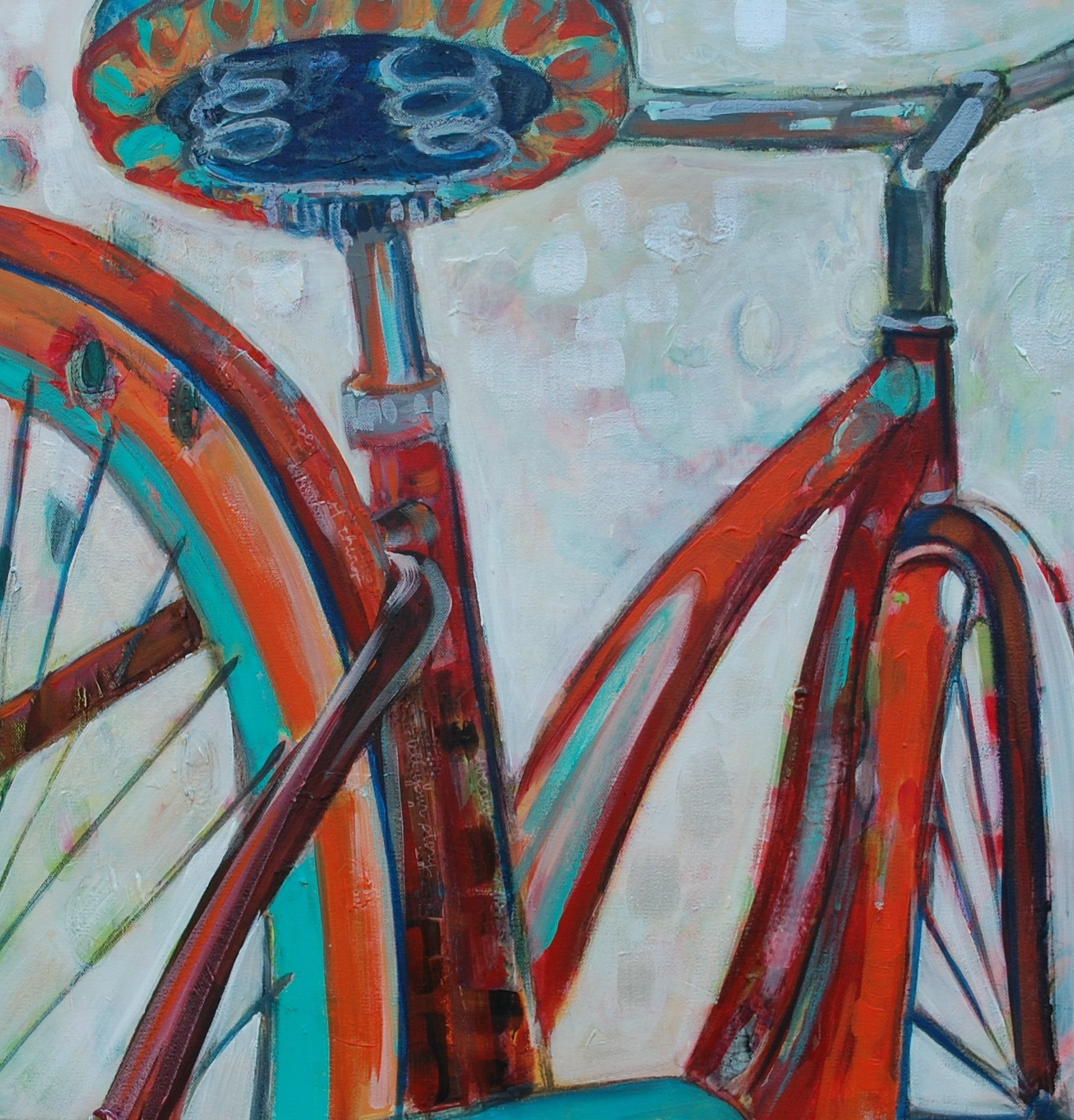 """SOLD  Tra La La 24"""" x 24"""" acrylic on canvas"""
