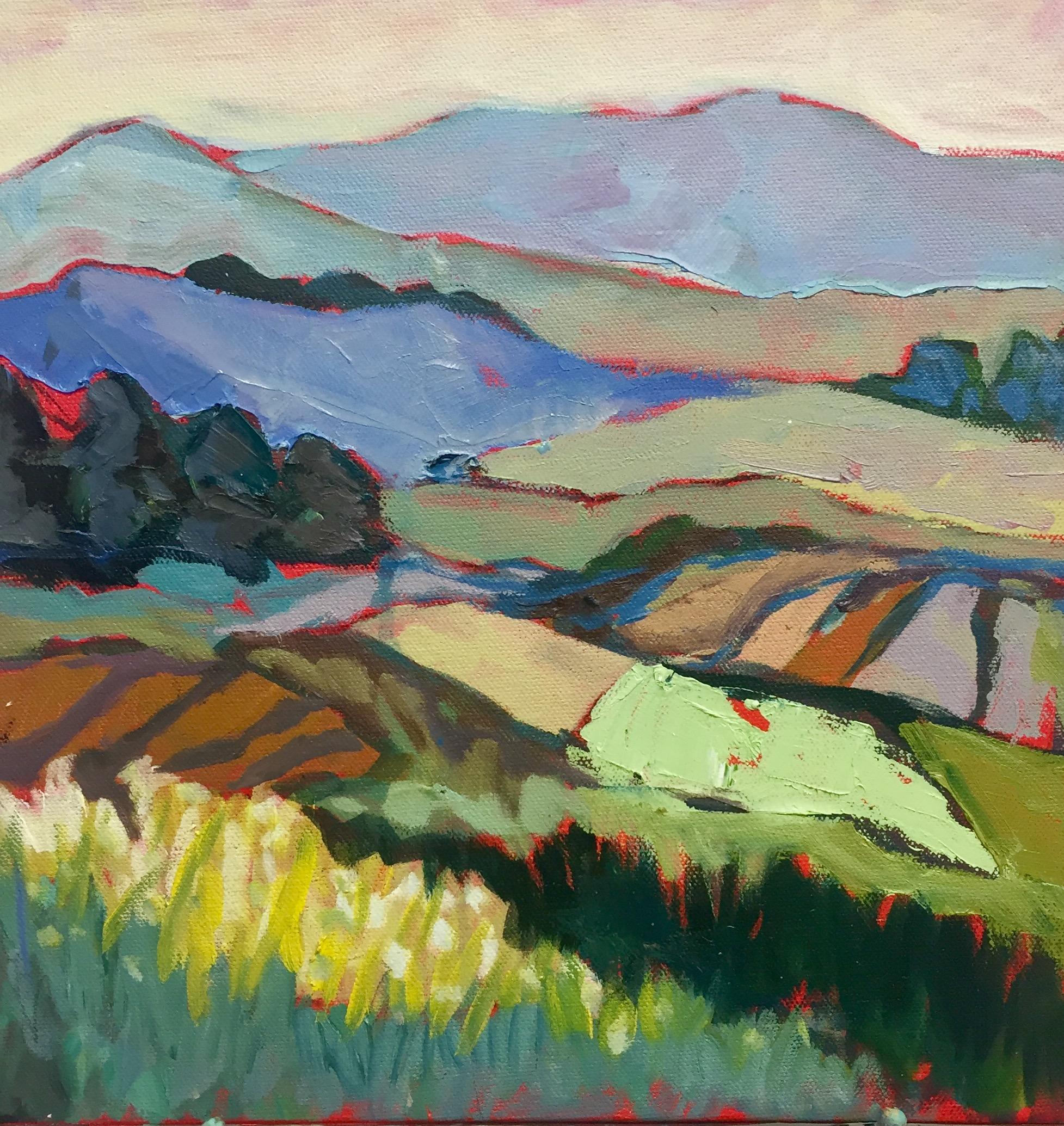 "Mountain Escape, 12"" x 12"" Oil on canvas"