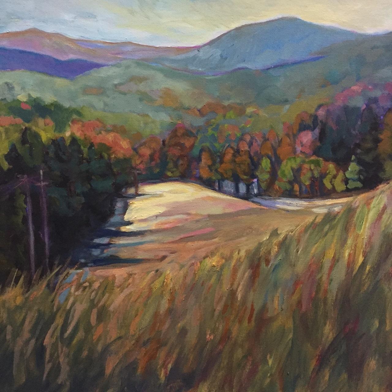 "Saluda Valley 30"" x 30"" oil on canvas"