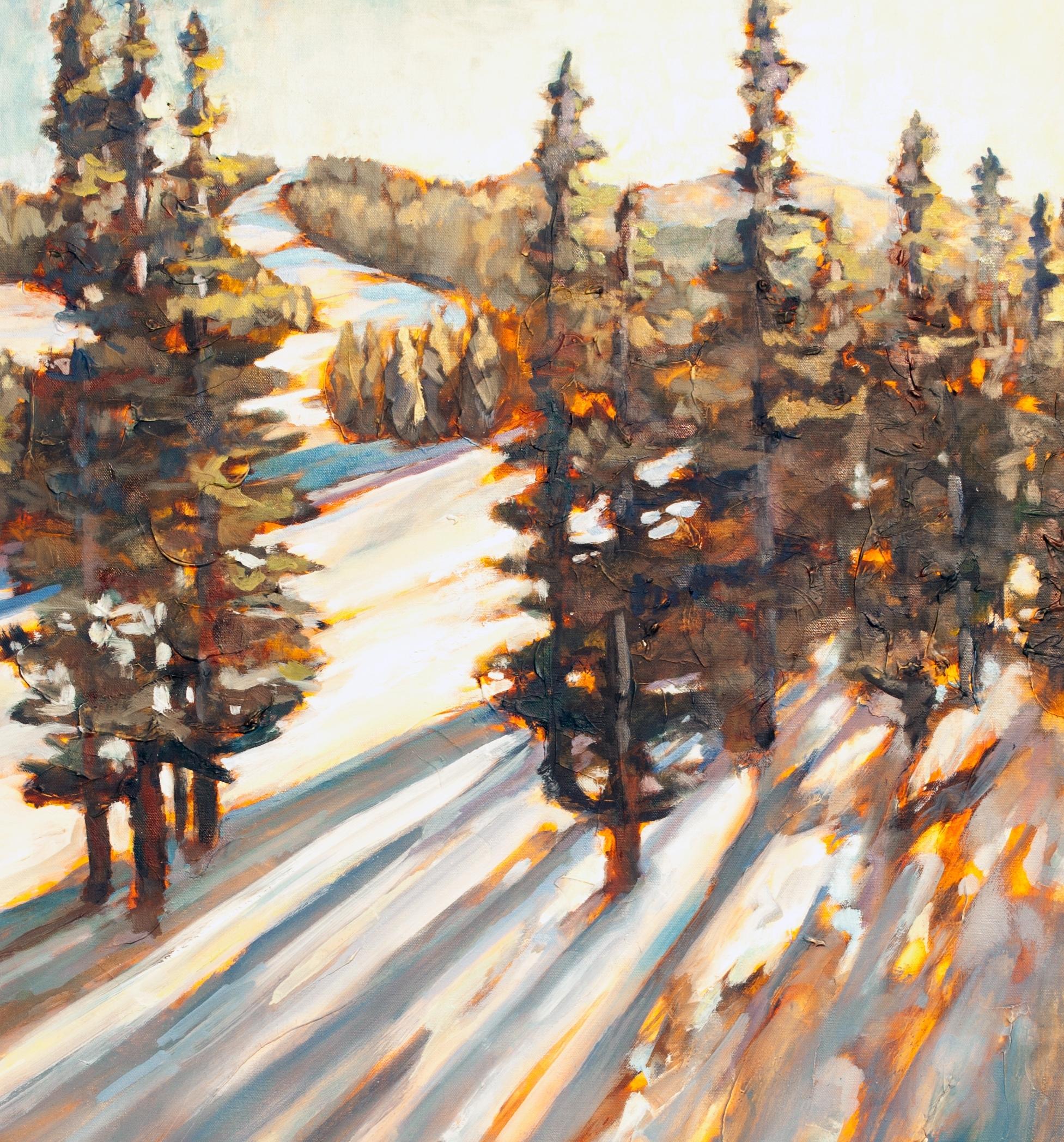 """Winter Escape 30"""" x 40"""" oil on canvas"""