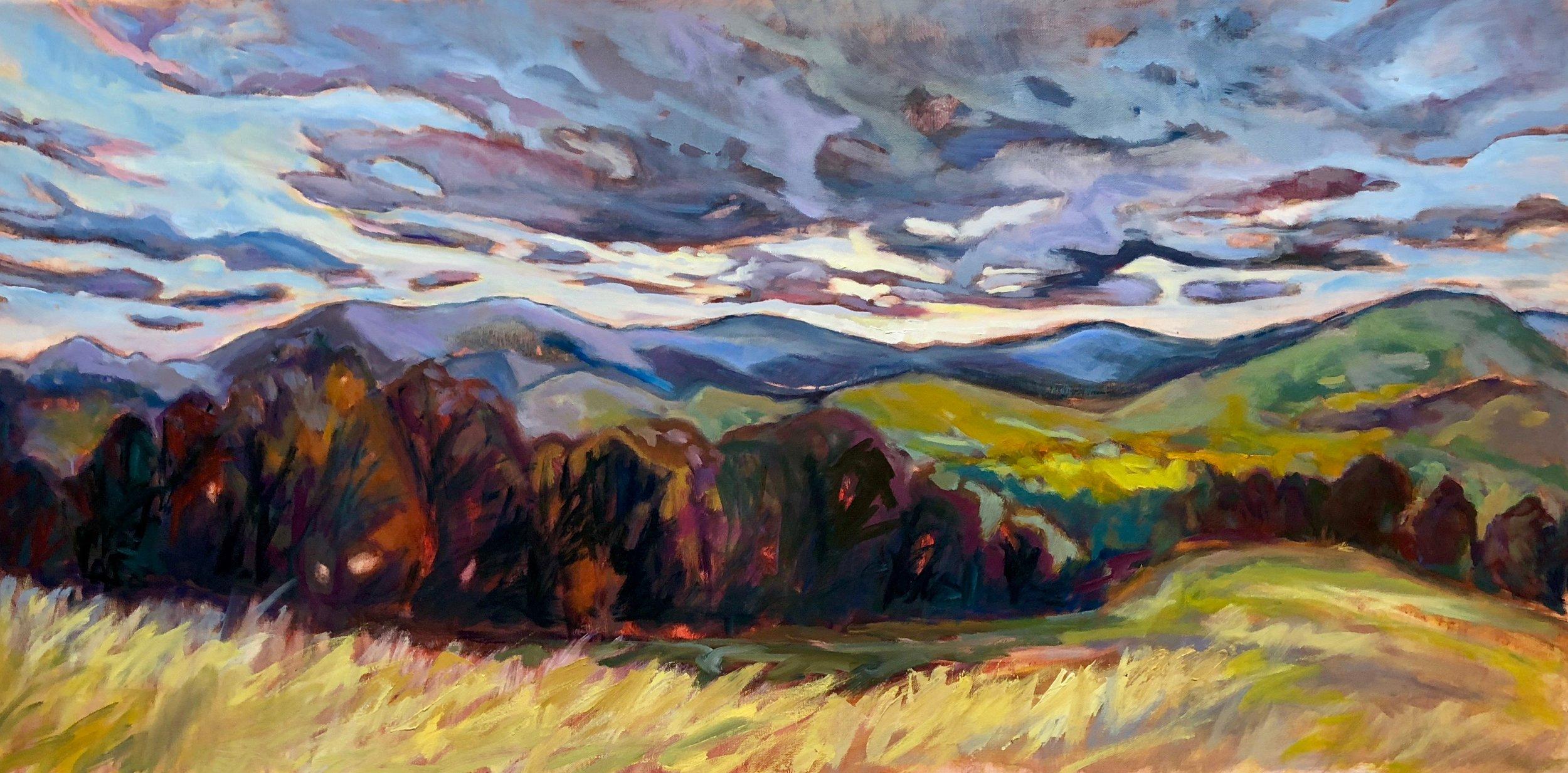 "Clear Skies Ahead, 24"" x 48"", Oil on Canvas"