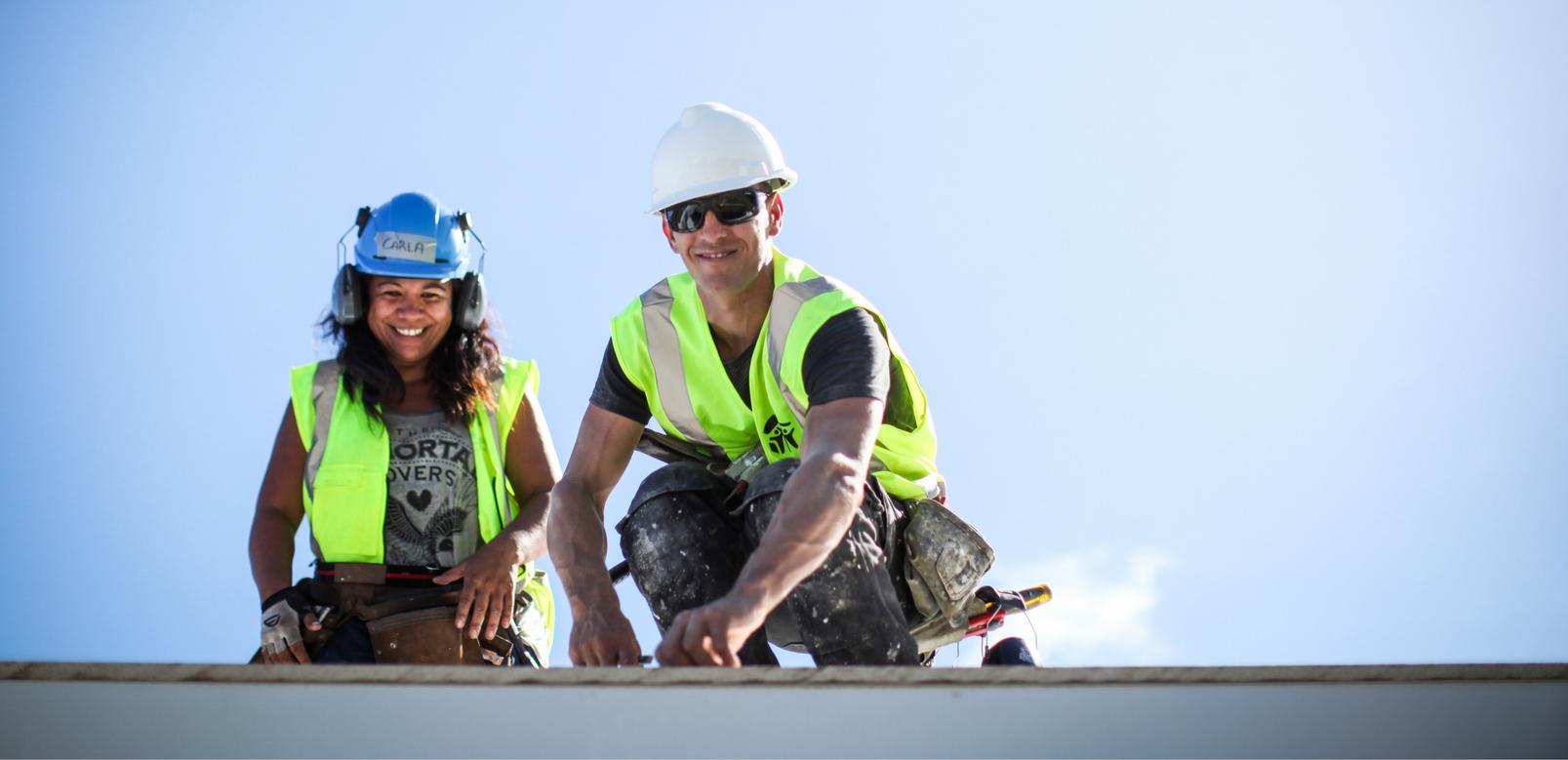 Volunteer for building Habitat Curtain Bank