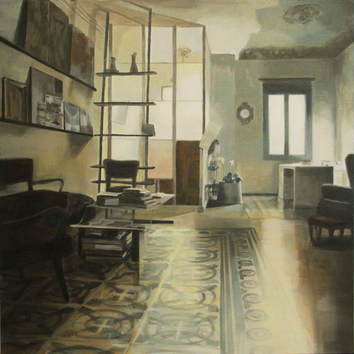 The Doctor's home, 1, 80×80 cm, 2015