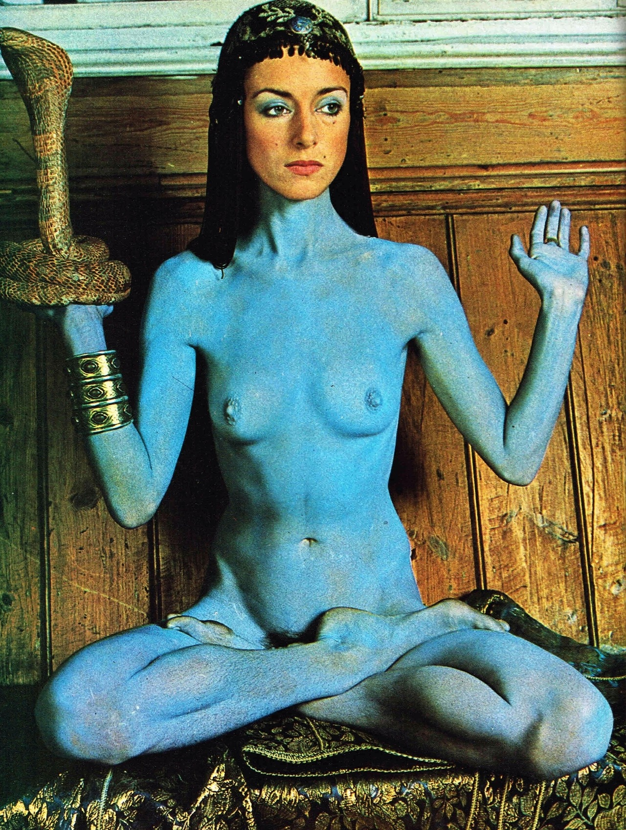 """cultqueens :         Penny Slinger,  Rex , 1972.    """"YOGA"""" by Adrian Piper"""