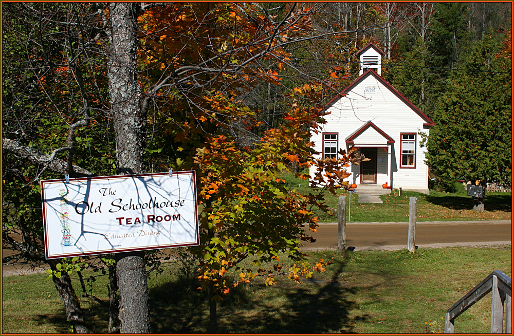 """The Old Ormsby Schoolhouse """"Educated Dining"""" & Tea Room."""